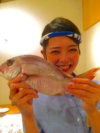 藤田と真鯛.JPG